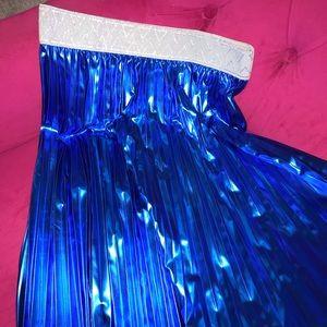 NWT LuLaRoe Jill M medium blue elegant pleat skirt